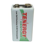 Tenergy 8.4V 200mAh Ni-MH Rechargeable 9V Battery - 10003
