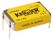 Eagle Picher LTC-7PN 3.5V 750mah Keeper Battery