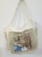 Sandra Dooley #6691.  Hand painted canvas bag