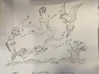 Antonio Eligio Tonel  #6110. Why evolution matters, 2008. Ink on paper, 19 x 24 inches