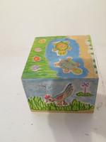 Susy #6708. Untitled, 2000. Acrylic on cigar box. 4 x 5 x 6 inches.