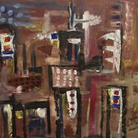 """Ernesto Ibanez #5135.  """"Recuerdos de mi Habana,"""" 2009. Oil on canvas. 17 x 20 inches."""