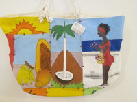 #6720. Hand painted bag, acrylic on canvas..