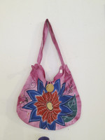 #6721. Hand painted bag, acrylic on canvas.