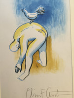 Elias Acosta #2201. Untitled, N.D. Ink and acrylic wash on paper. 19.75 x 13.75 inches.