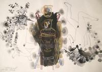 """Zaida Del Rio #492. """"Memorias de la danza,"""" 1994. mixed media on guarro paper.  20 x 28 inches,"""