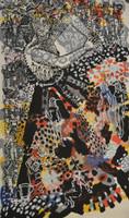 """Zaida Del Rio #3213. """"La dueña del tiempo,"""" 2000. Serigraph print edition 11/80.    67.5 x 42 inches"""