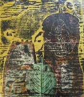 Fuster (José Rodríguez Fuster) #88. Untitled, 1985. Monotype print. 17.5 x 13.5 inches.