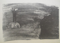 Jose Contino #132. Untitled, 1975. Lithograph print edition 18 of 20.   16.5 x 23.5 inches.