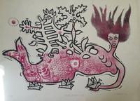 """Alfredo Sosabravo #138. """"Sueno infantil,"""" 1974. Lithograph print edition 9/10.   20 x 29 Inches. SOLD!"""