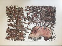"Sosabravo (Alfredo Sosabravo) #141. ""Cortemosle los tentaculos,"" 1975. Lithograph print edition 7/10.  20 x 30 Inches. SOLD!"