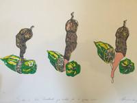 """""""Sabor a Cuba. Quimbombo,"""" Magdalena Campos #314. 1988. Serigraph, edition 5 of 130. 20"""" x 27.5""""."""
