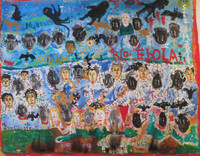 "Noel Guzman Bofill #7081. ""Rio Ebola,"" 2014. Acrylic on canvas. 16 x 20.5 inches."