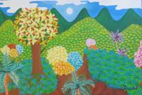 "Angel Rosabal #7087. ""Un mundo differente,"" 2014. Oil on canvas, 11'x 16 inches."