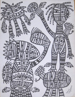 Guille Esquerra  #5622. Untitled, N.D. Ink on paper. 11 x 8.5 inches.