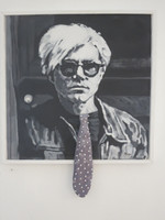 """Andy Warhol,"" Marlys Fuego #5935. 2009. Mixed media/acrylic on canvas. 23"" x 18.75""."