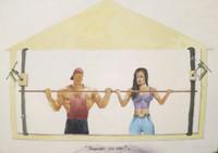 "Franklin Alvarez #3790. ""Suspencion por aire,"" 1998. Watercolor on paper. 22 x 30 inches."