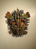 Papo #6062. Untitled, c2013. Paper mache mask. 24 x 18 x 9 Inches. SOLD!