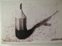Villalvilla (Camilo Salvador Díaz de Villalvilla Soto) #6056. Untitled, N.D. Miniature canvas painting, 4 x 6 Inches.