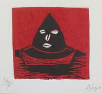 "Alazo - Alejandro Lazo #6075. Untitled, N.D.  Print edition 1 of 20.  6"" x 9."""