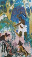 "Richard Bruff Bruff #6082. ""El chiicu,"" 2012. Oil on canvas, strecthed. 13.5"" x 7.5 inches."