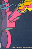 "Rostgaard (Alfrédo Gonzalez Rostgaard) (ICAC)  ""Decimo Aniversario,"" 1969. Silkscreen. 30 x 20 inches.  NFS"