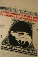 """Dimas. """"Como porque y para que se asesina a un general,"""" 1971. Silkscreen. 28 x 18 inches"""