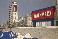 "Ares {Aristides Hernandez}. ""Wal*Marx,"" 2016. Silkscreen print. 19.5 x 27 inches."