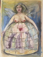 William Perez #2417. Untitled, 2000. Watercolor on heavy paper. 16.5 x 11.5 inches.