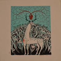 """Alicia Leal, """"Mi verso es un ciervo herida,"""" 2011. Print 49/100,  #5734"""