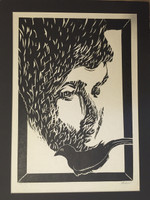 Fabelo (Roberto Fabelo)  #2818. Untitled, 1987. Serigraph print edition 75/150.   24 x 17.5 Inches.