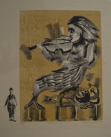 "Leonel Lopez-Nussa  #3140. 'Musica 41,""  1974. Print edition 4 of 10. 16 x 13 inches. SOLD!"