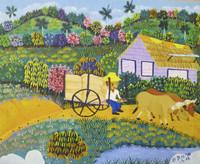 Inciarte (Yunior Inciarte Santos) #6493. Untitled,  2016. Oil on canvas. 10.5 x 13 inches.