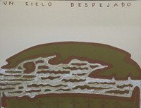 "Carlos Cárdenas #6330. ""Un cielo despejado,"" 1988. Acrylic on canvas. 16 x 20.5 inches"