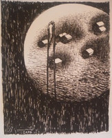 "Untitled, Agustin Bejarano #5942. 2006. 13"" x 10.75"". Etching."