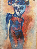 Francisco Gordillo #5101. Untitled, 2009. Acrylic on handmade paper. 14 x 10 inches.