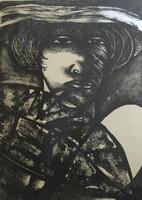 Choco (Eduardo Roca Salazar) #990. Untitled, 1976. Lithograph print edition 14/20.  24.75 x 17.25 Inches.
