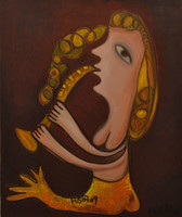 Fuster (José Rodríguez Fuster) #5149. Untitled, ND. Oil on canvas. SOLD!