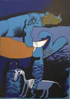 Bonachea ( Juan Vicente Bonachea) #1025. Untitled, 1996. Screen print edition ix of xxv. 27.5 x 20 inches.