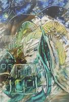 Angel Antonio Moreno #1253. Untitled, 1995. Mixed media on paper. 13.5 x 9 inches.