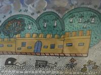 """Abel Perez-Mainegra #1411. """"Cuartel de infantenioa Espanol,"""" N.D. Gouache on paper. 12 x 15.5 inches."""