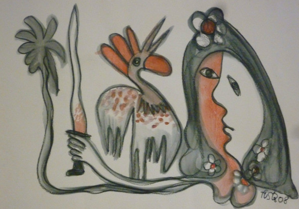 """Untitled by Jose Fuster, #4834. 2008. 10.5"""" x 15""""."""