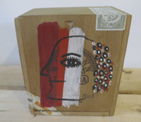 Montebravo (José Garcia Montebravo)  #6598. Untitled, 2000. Acrylic on wood cigar box. 4 x 5.25 x 5.5 inches