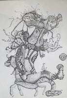 Alberto Migoya #6675. Untitled, 1998. Ink on paper.