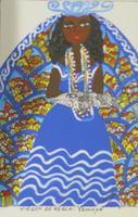 "Cenia Gutierrez Alfonso #6686 (SL). ""Virgen de regla: Yemaya,"" N.D, Acrylic and ink on cardstock. 8.5 x 6 inches."