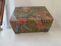 Antonio Rodriguez Hernandez (RHA) #6706. Hand painted cigar box. 5 x 8 x 11 inches.