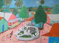 """Roberto Torres Lameda #7003 (SL). """"La tv en la enfancia,"""" 2013. Oil on canvas. 18 x 24 inches.   NFS"""