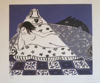 "Rocío García #7073. ""Ceperucita,""  2014. Serigraph print. 10.5 x 13 Inches."