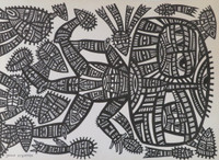 Guille Esquerra #8055. Untitled, ND. Ink on paper, 18 x 13 Inches