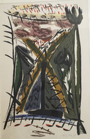 Flora Fong #341. Untitled, 1990. Serigrapgh print edition 123/125. 27.5 x 19.5 inches.